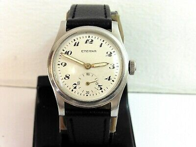 1944 Steel Gents Mid Size Eterna Anti-magnetic In Excellent Condition • 60£