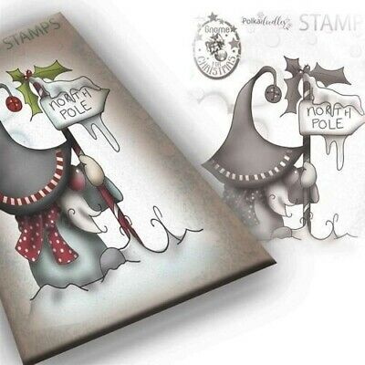 Polkadoodles Clear Polymer Stamp North Pole PD7944 Christmas Craft Card Making • 4.75£