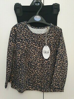Baby Girls Animal Print Tunic Top And Leggings Outfit 18-24 Months • 8.99£