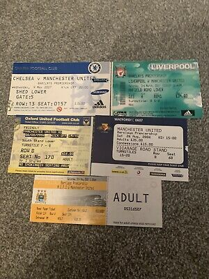 5 Manchester United Away Tickets 2006/7 • 1.99£