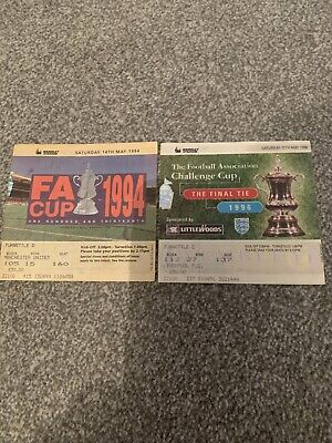 2 Manchester United Fa Cup Final Tickets 1994 & 1996 • 4.99£
