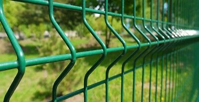 V Mesh Green Panel Security Fencing System 2.0m High, Steel Wire Post  • 17.99£