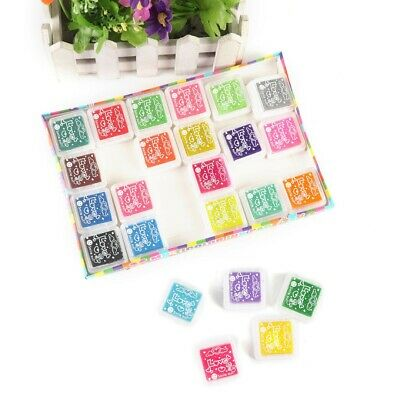 Set Of 24 Colors Rubber Stamps Pigment Ink Pads Painting Paper Wood Fabric ·UK • 5.99£