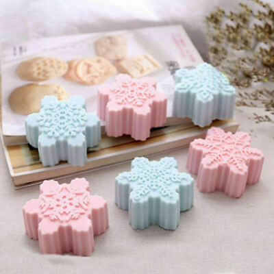 Snowflake Chocolate Mold Soap Silicone Ice Tray Cake Christmas Mould Part Craft • 4.69£