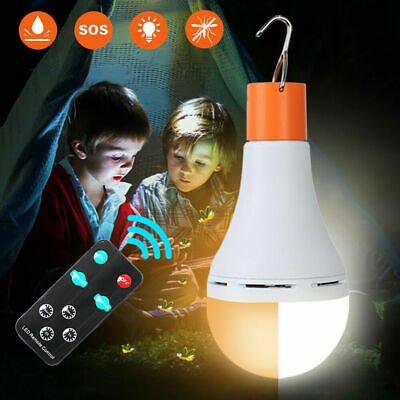 AU24.85 • Buy 2in1 Portable Camping Light Bulb Outdoor LED Solar Power Mosquito Repellent Lamp