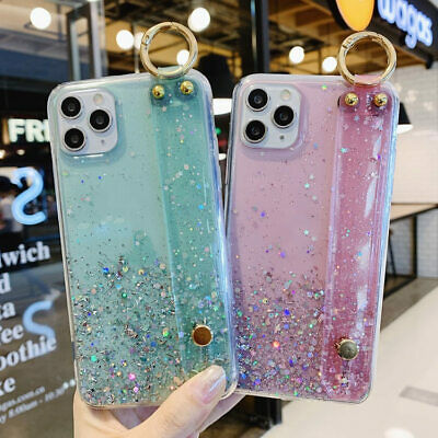 AU12.59 • Buy Wristband Bling Gilter Phone Case For IPhone 11 Pro Max SE2 XS XR 7 8 Plus Cover