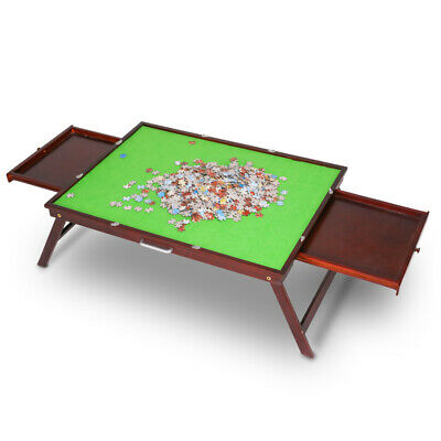 £80.99 • Buy Jigsaw Puzzle Table Storage 1000Pcs Mats Folding Wooden Table Drawer Board New