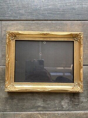 """Beautiful Gold Gilt Photo Picture Swept Frame Rococo Baroque 8"""" X 6"""" • 22.99£"""