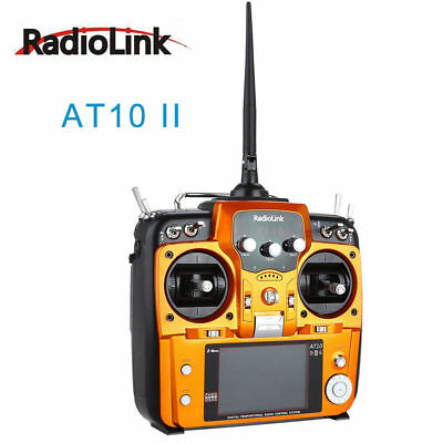 RadioLink AT10 II 2.4Ghz 10CH RC Transmitter With R12DS Receiver Remote Control • 148.27£