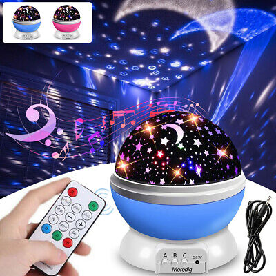 LED Night Star Starry Sky Projector Light Lamp 360° Rotating Baby Room Gifts UK • 13.89£