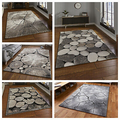 Large Modern Rugs, Natural World, Pebbles & Woodland,quality,durable,living Room • 88.99£