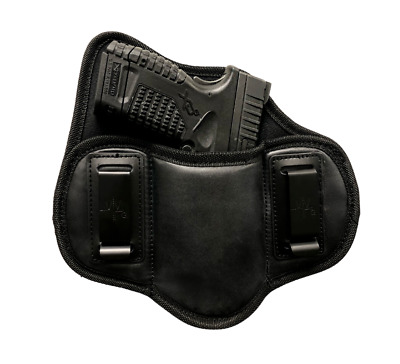 $14.99 • Buy IWB Dual Clip Soft Leather Pancake Holster For Smith & Wesson M&P Shield 9MM/40