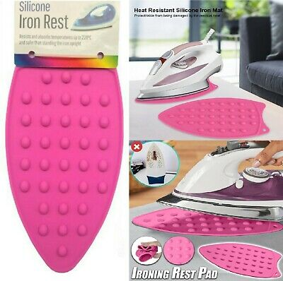 £2.99 • Buy Silicone Iron Rest Pad Heat Resistant Mat Mini Ironing Board Protector R2616 UK