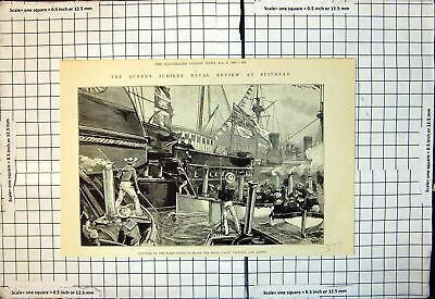 Old Queens Jubilee Naval Review Spithead Captains Fleet Royal Yacht • 13£