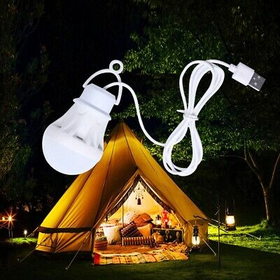 £3.55 • Buy Portable Camping Lights Lantern USB Bulb Outdoor Power Bank Equipment 5V LED 5W