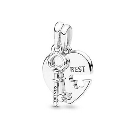 Best Friends Pandora Fitting Charm 2 Piece One For You One For Your Best Friend • 12.99£