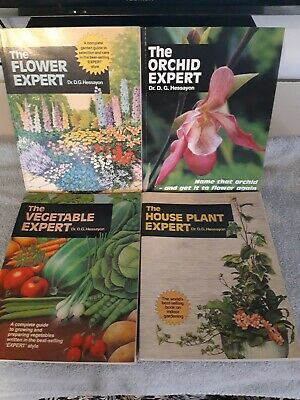 Dr D G Hessayon The House Plant Vegetable Flower The Orchid Expert 4 Book Bundle • 7.50£