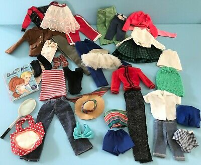 $ CDN30 • Buy Vintage 1960's To 1970's Mattel Barbie Ken Skipper Doll Clothes Lot Some Tagged