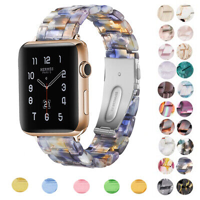 New Resin Band For Apple Watch 38/40/42/44mm Strap Bracelet Watchband For IWatch • 10.37£