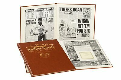 Leatherette A3 Rugby League Newspaper Book With Colour Pages • 49.95£
