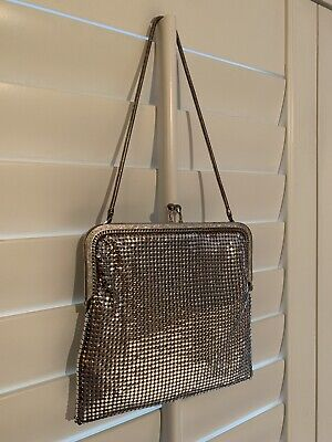 AU20 • Buy Oroton - Vintage Glomesh Silver Clutch Disco Bag