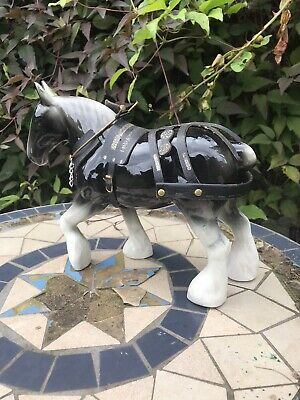 Vintage Coppercraft?Grey Harnessed Shire Horse Model • 5.80£