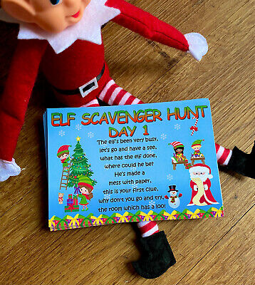 £5.50 • Buy Will The Elf Be Put On The Naughty Shelf? Hunt Clues Ideas Accessories Prop 2019
