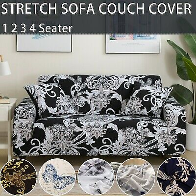 AU30 • Buy 1 2 3 4 Seater Floral Sofa Couch Cover Lounge Recliner Chair Slipcover Protector