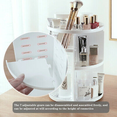 360°Rotating MakeUp Cosmetic Case Organizer Storage Box Display Stand Adjustable • 9.95£