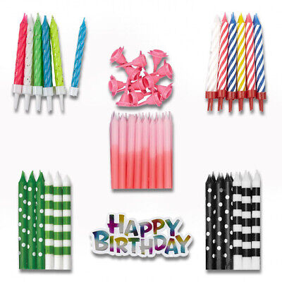£1.95 • Buy BIRTHDAY CANDLES - Cake Decorations Party Ages Boy Girl Multi Coloured Numeral