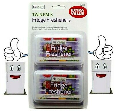 2 FRIDGE FRESHENER Deodoriser Kitchen Air Remove Smell Eliminate Odour RY1723 UK • 2.99£