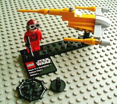 Star Wars Lego 9674 Royal N-1 Star Fighter Naboo Pilot (no Planet)  With Manual • 7.99£