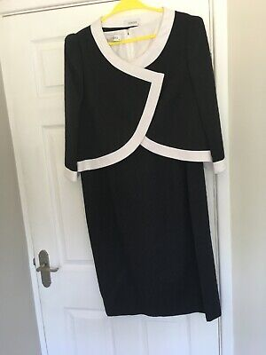 ITALIAN DESIGER CONDICI MONOCHROME DRESS AND JACKET SIZE 18 Worn Once • 12.30£