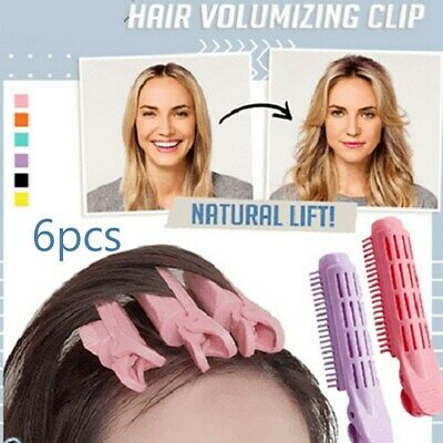 6Pcs Instant Hair Volumizing Clip Hair Root Curler Roller Wave Fluffy Clip Tools • 6.89£