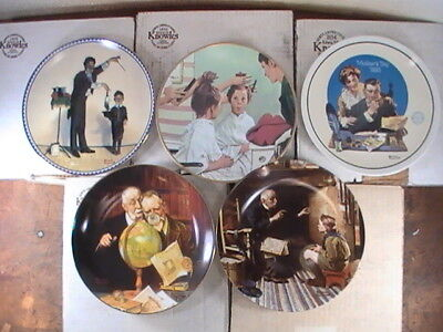 $ CDN7.99 • Buy (5)vintage Edwin Knowles Collector Plates (by Norman Rockwell)