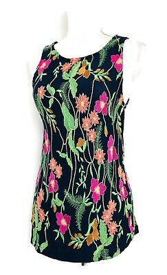 $ CDN29.65 • Buy Anthropologie Top Navy Blue Floral Embroidered Tank Meadow Rue Cartanega Size S