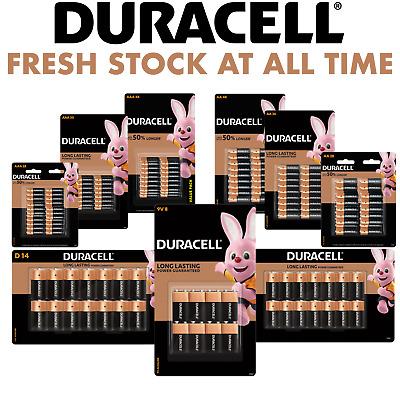 AU35.99 • Buy 【Genuine AU Stock】Duracell Coppertop Alkaline AA AAA C D 9V Battery