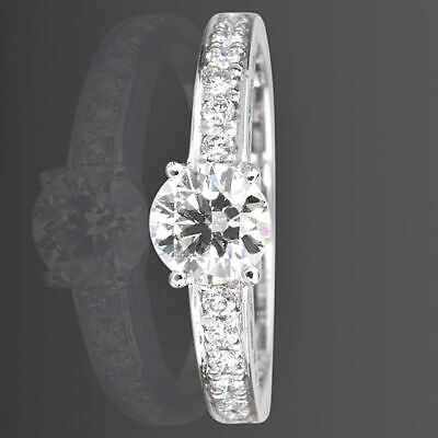 $ CDN4090.36 • Buy Diamond Ring Solitaire Accented 1.16 Ct 14 Karat White Gold Vs2 Size 5 6 7 8