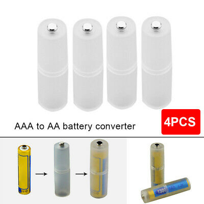 AU11.60 • Buy 4PCS AAA To AA Size Battery Converter Adapter Battery Holder Case Switcher