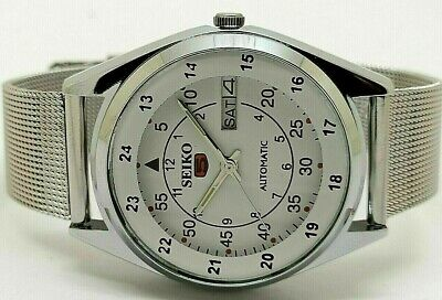 $ CDN46.70 • Buy Seiko 5 Automatic Men's Steel Railway Time Day/date Vintage 6309 Japan Watch Run