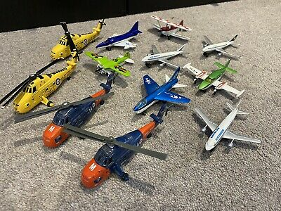 Matchbox Skybusters Planes And 4 ETRL Search And Rescue Helicopters • 18£
