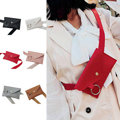 Women Leather Waist Fanny Pack Belt Bag Pouch Travel Hip Bum Bags Purse Durable • 6.29£