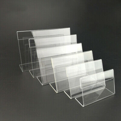 30Pcs Acrylic Sign Display Holder Price Name Card Label Tag Stand 6x4cm • 7.09£