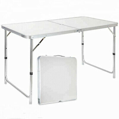 Heavy Duty 4ft Folding Table Portable Plastic Camping Garden Party Catering • 16.99£