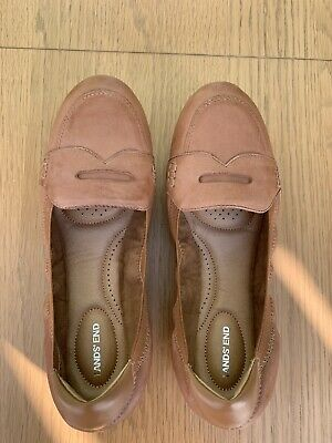 Lands End Comfort Ballet Pumps - Worn Literally Once. Size 7.5. Tan Leather. • 5£