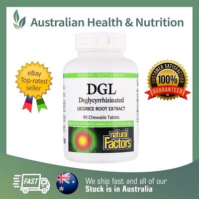 Natural Factors Dgl Deglycyrrhizinated Licorice Extract 90t + Free Same Day Post • 14.02£