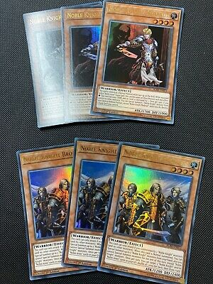 YUGIOH NOBLE KNIGHT BUNDLE Brothers X3 Medraut X3 Ultra Rare BLRR • 4.99£