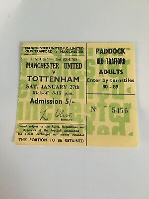 67/68 TICKET Manchester United V TOTTENHAM FA CUP • 4.99£