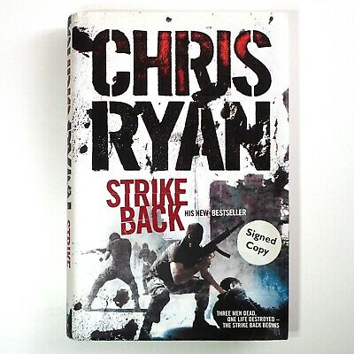 """Author Signed Copy Of Chris Ryan's """"Strike Back"""" Hardcover – Excellent Condition • 4.99£"""