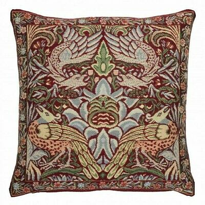 Tapestry Cushion Cover - Peacock & Dragon [red]- 45cm [18 ] Approx • 23£